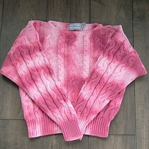 VTG 90S FORENZA CUSTOMIZED CROP SWEATER S